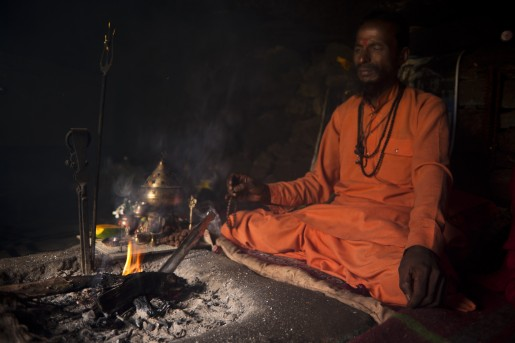 Meditation In front of Fire
