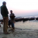"First light by the Ganges in Varanasi (<a target=""_blank"" href=""httpss://dalbirsindia.wordpress.com"">Photo by Dalbir Singh</a>)"