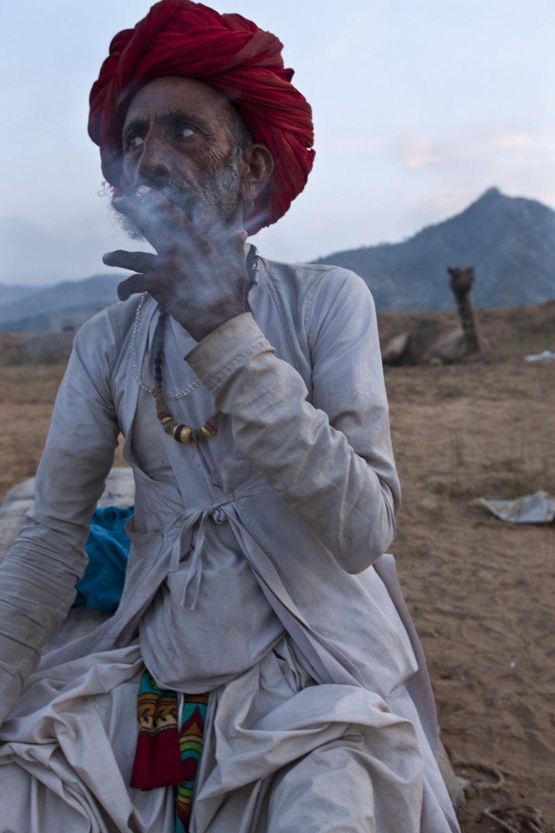 Camel trader at Pushkar Fair