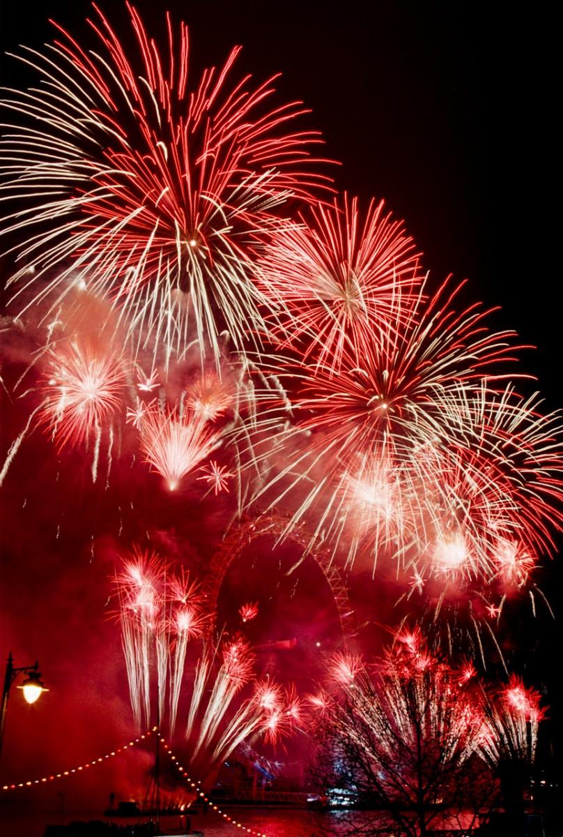New Year Celebration, London Eye