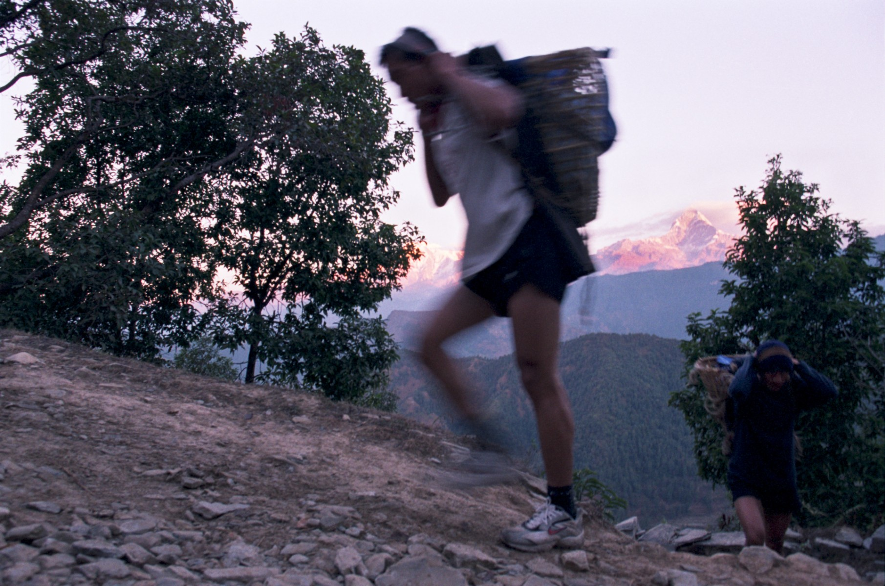 The doko race, near Pokhara, eastern Nepal