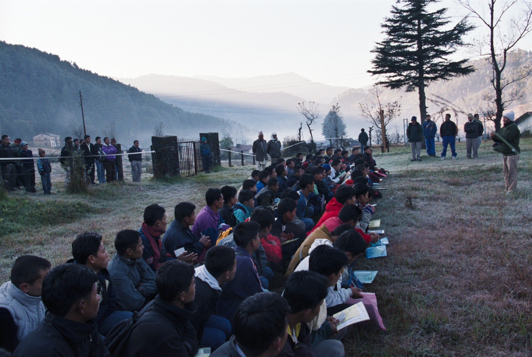 Briefing, Jiri, eastern Nepal
