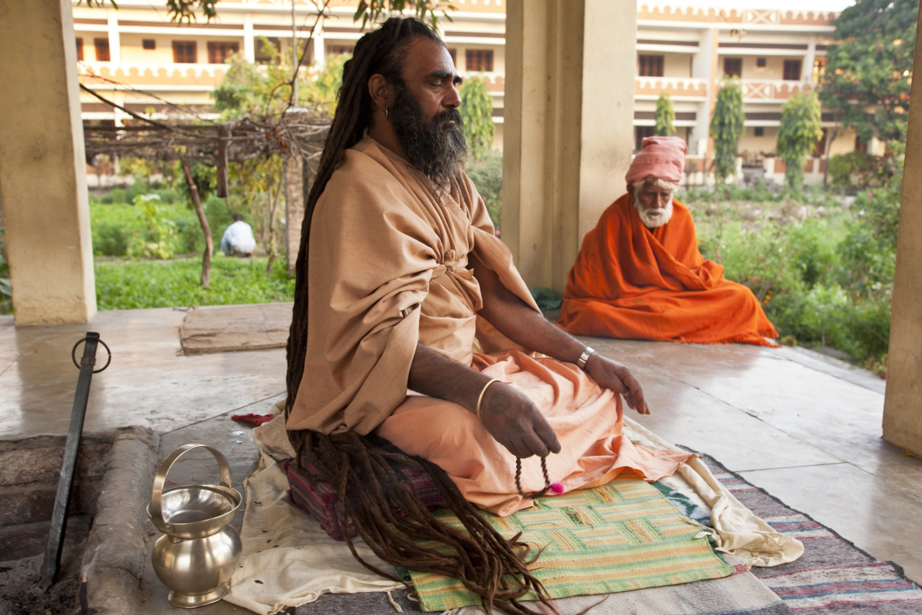 Udasin Meditates, Kumbh Mela, Hardwar