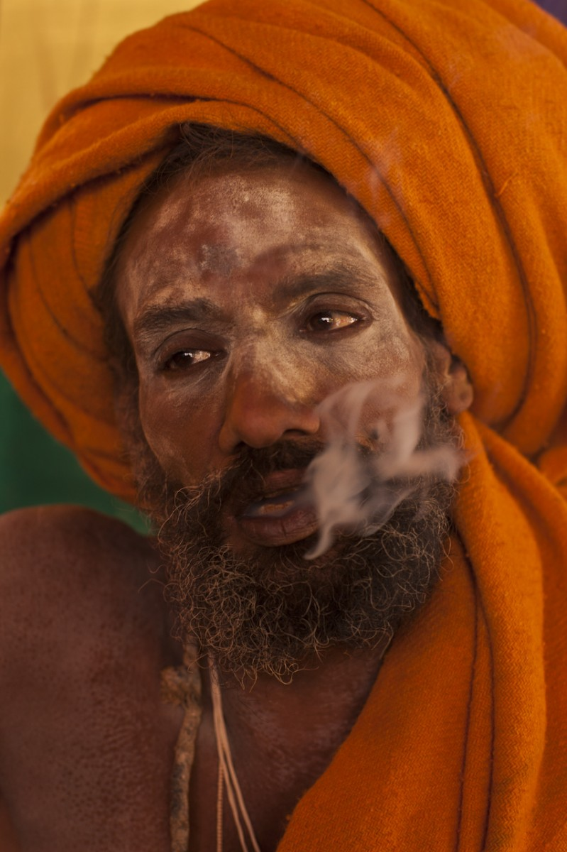 Finishing a Cigarette, Kumbh Mela, Hardwar