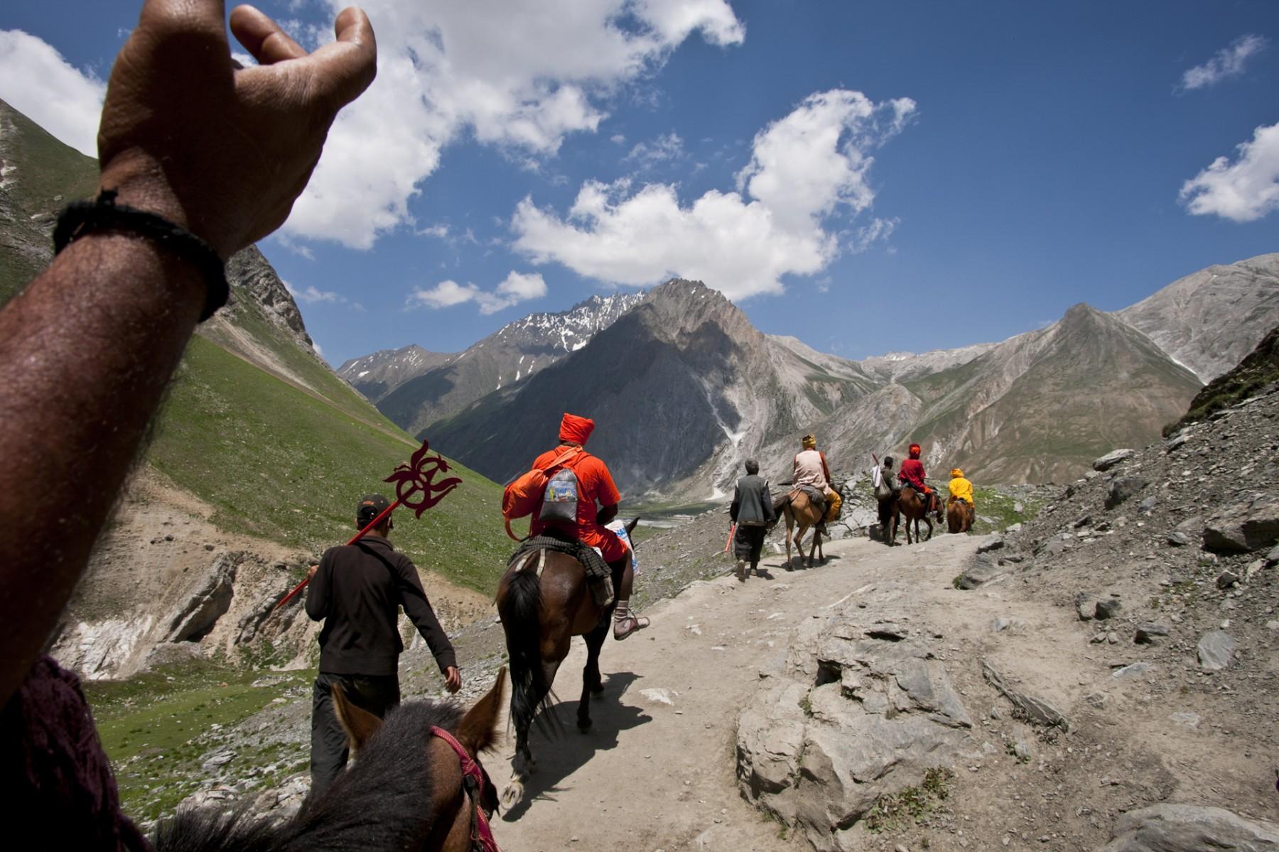 Pilgrims on ponies Armanath