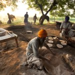 Nihangs Chapati making