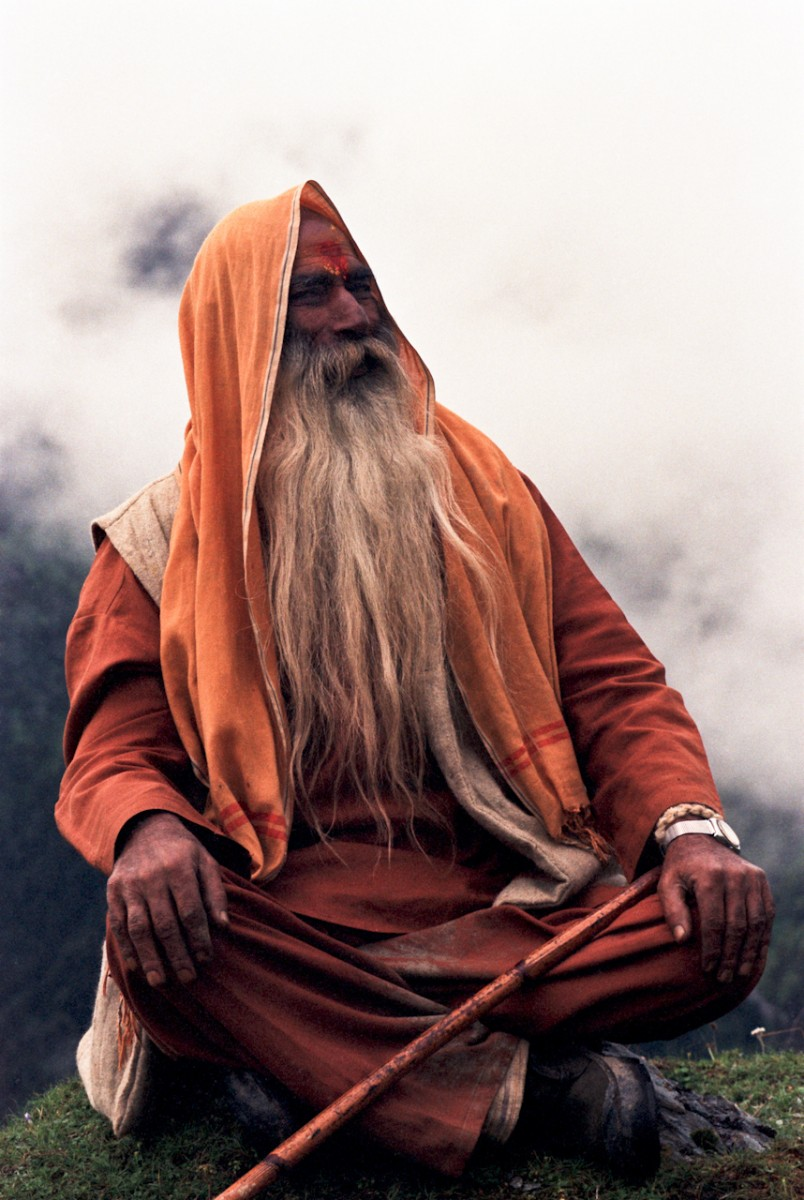 Hindu Priest, Meadow of Melancholy, Himalayas