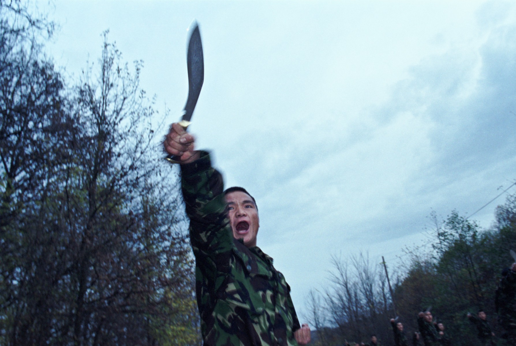 Combat training with kukri, Bosnia