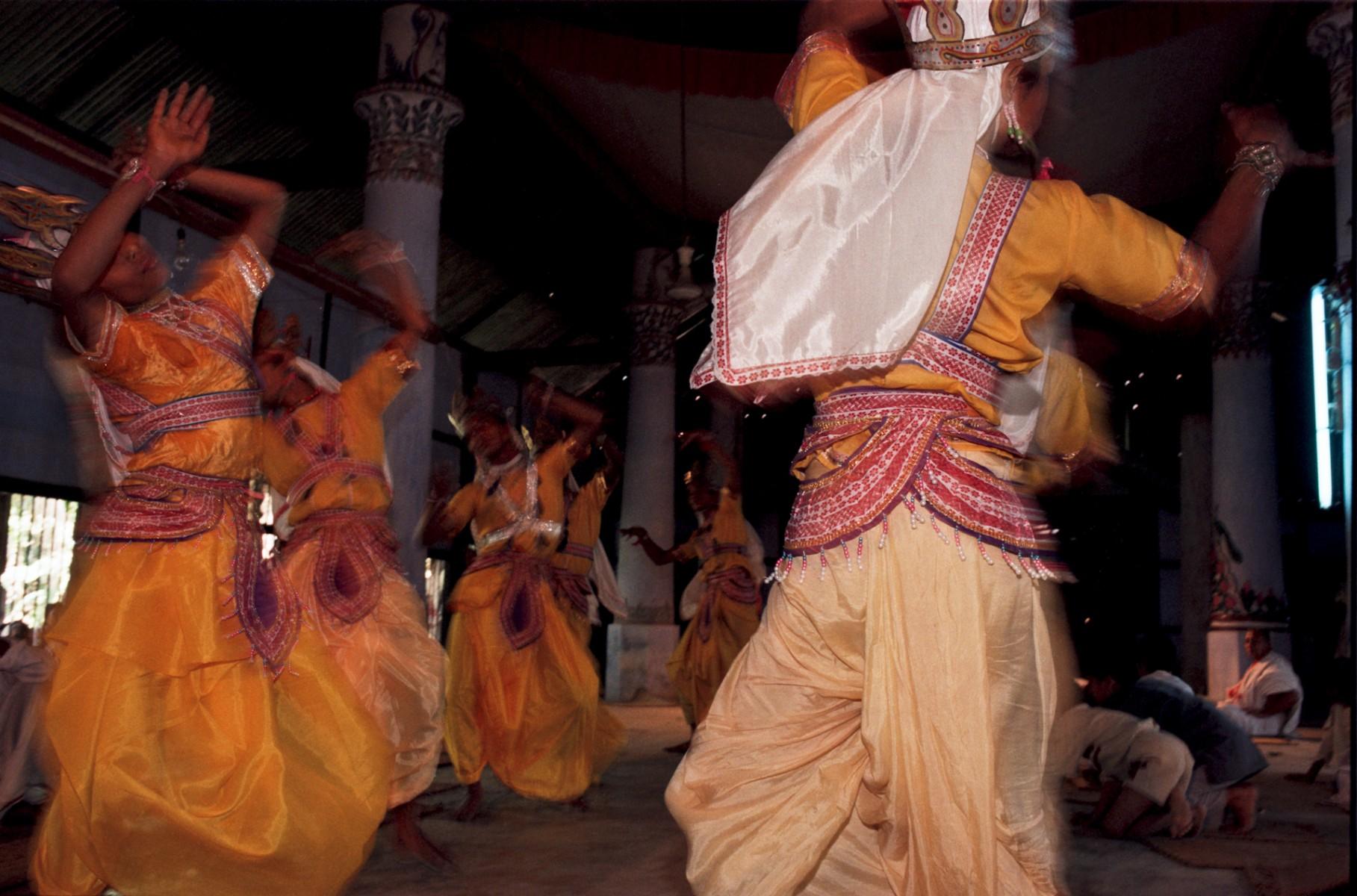 Dancing monks Majuli