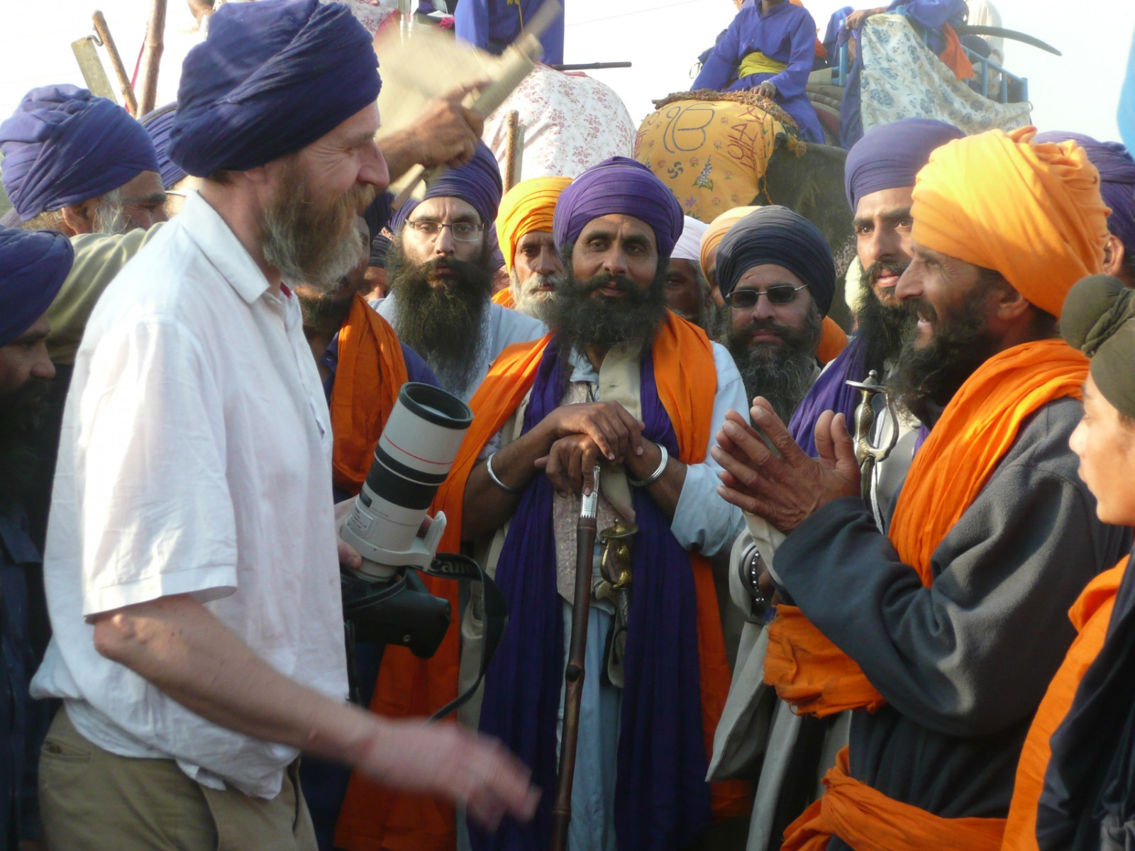 Meeting and Greeting at Hola Mohalla in Anandpur Sahib, Punjab