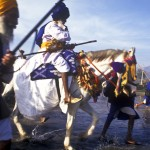 Crossing river at Hola Mohalla