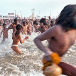 Naga Babas bathe in the Ganges, Kumbh Mela, Allahabad