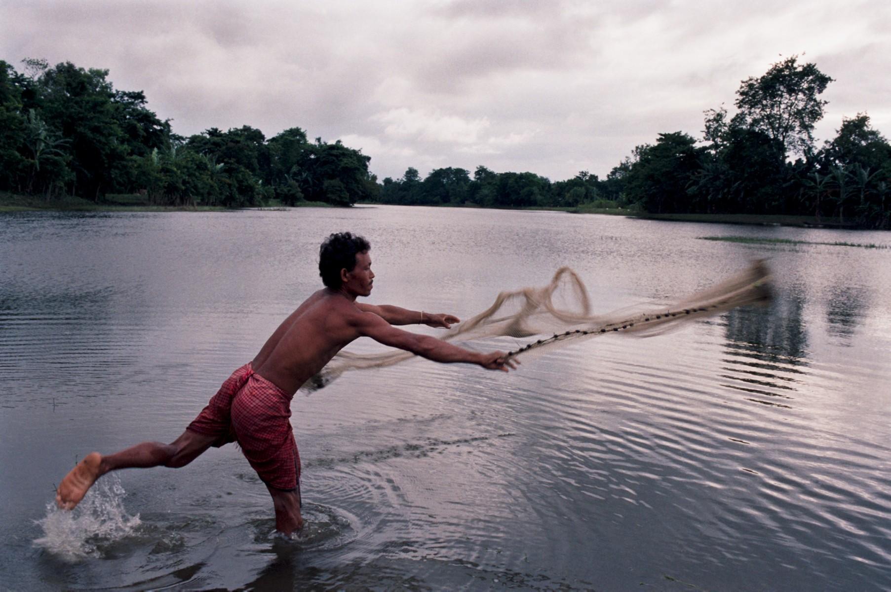Traditional fishing Majuli