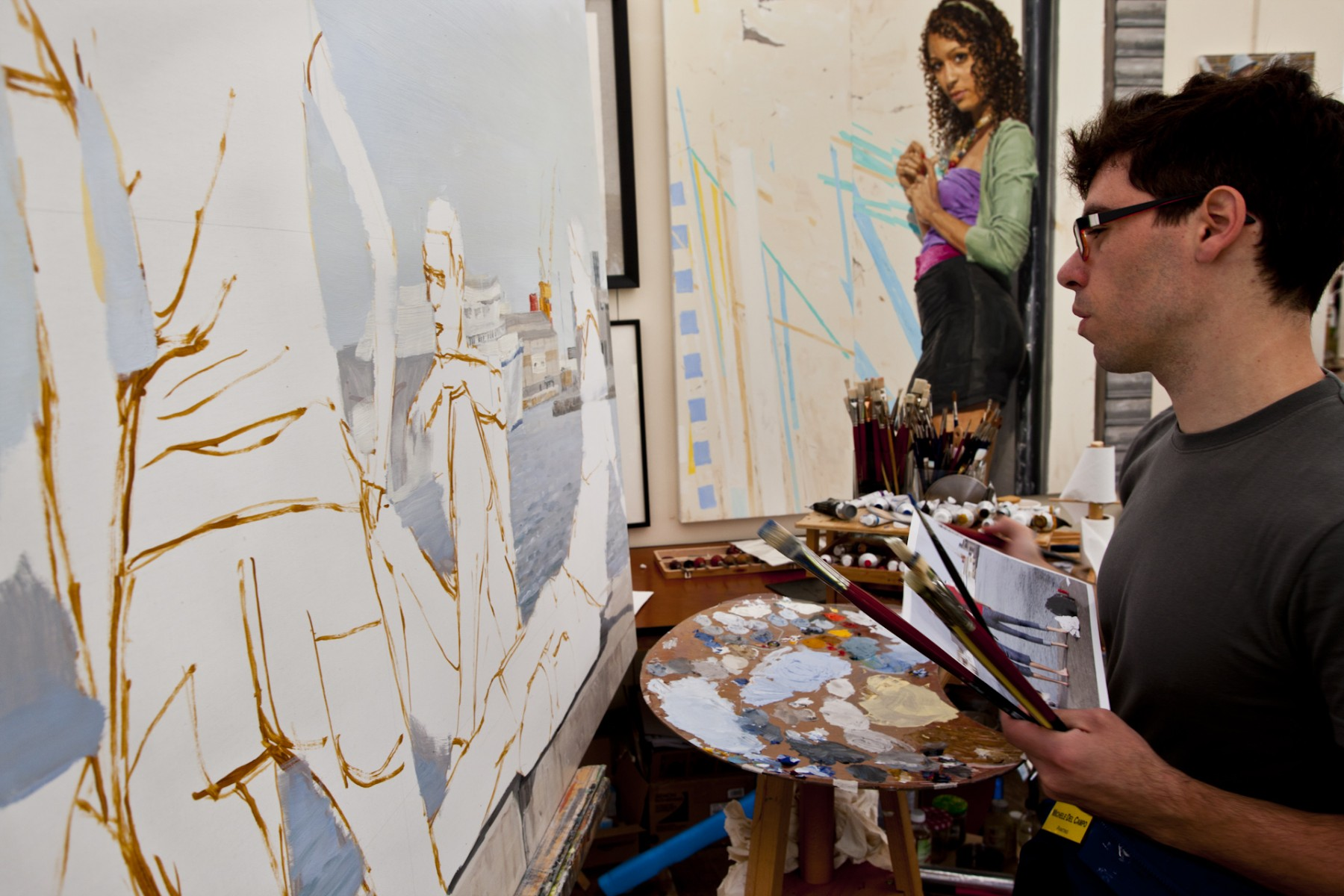Michel del Campo demonstrating at Art in Action 2009