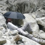 "Resting at Gaumukh, source of the Ganges (<a href=""http://dalbirsindia.wordpress.com"" target=""_blank"">Photo by Dalbir Singh</a>)"