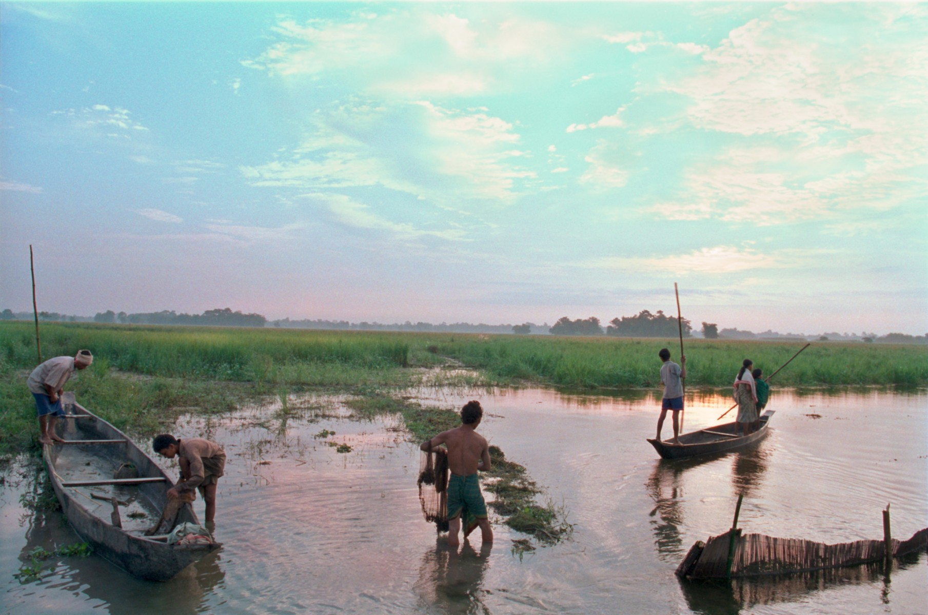 Fishing, Majuli, Assam