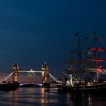 Tower Bridge at dawn from Old Billingsgate Market during London 2012
