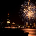 Fireworks over Tower Bridge to mark the closing of the Paralympic Games