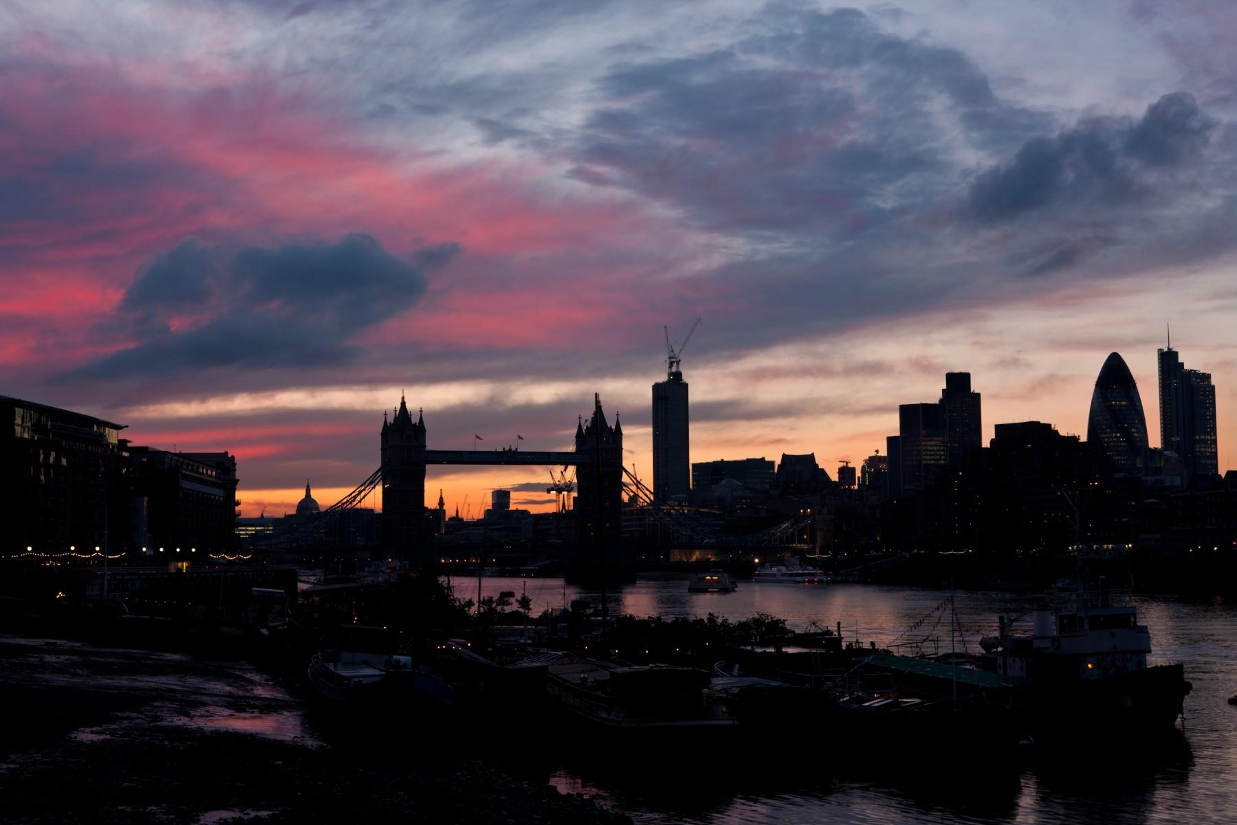 Evening sky over the City 1