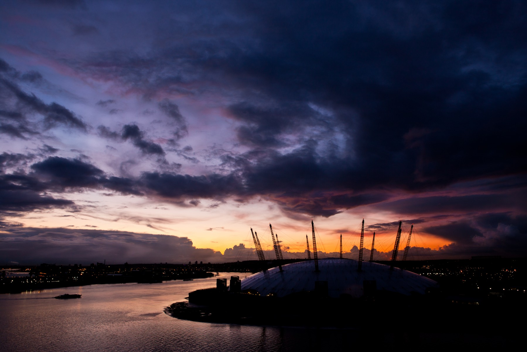 O2 Arena at dawn