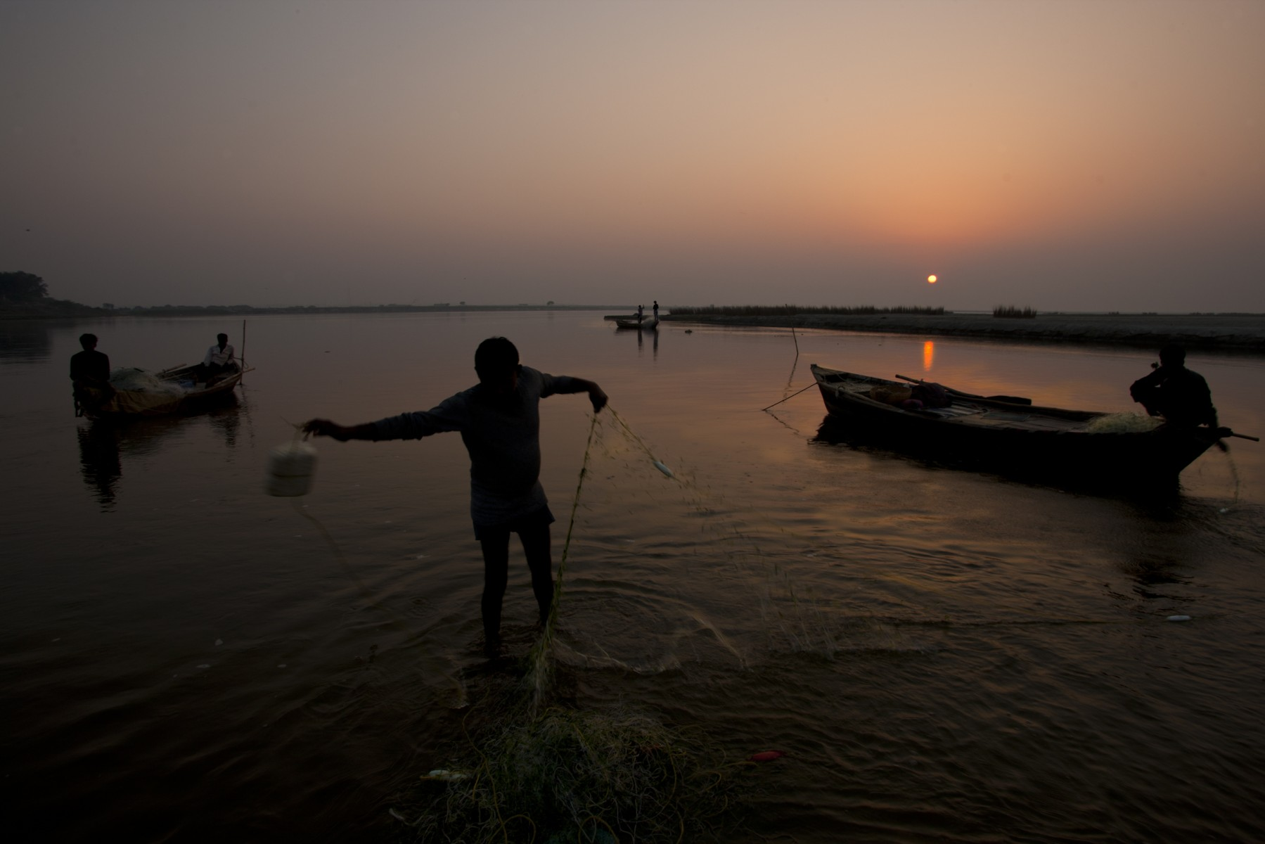 Ganges fishermen