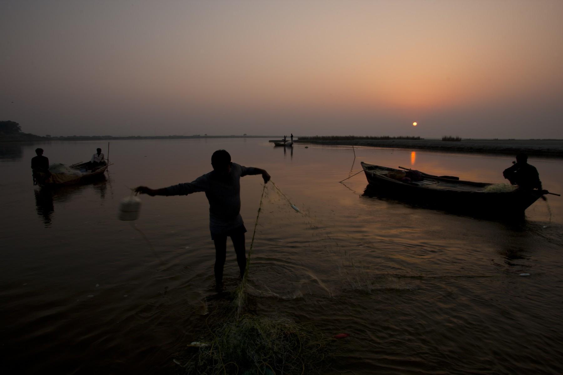 Ganges fishermen