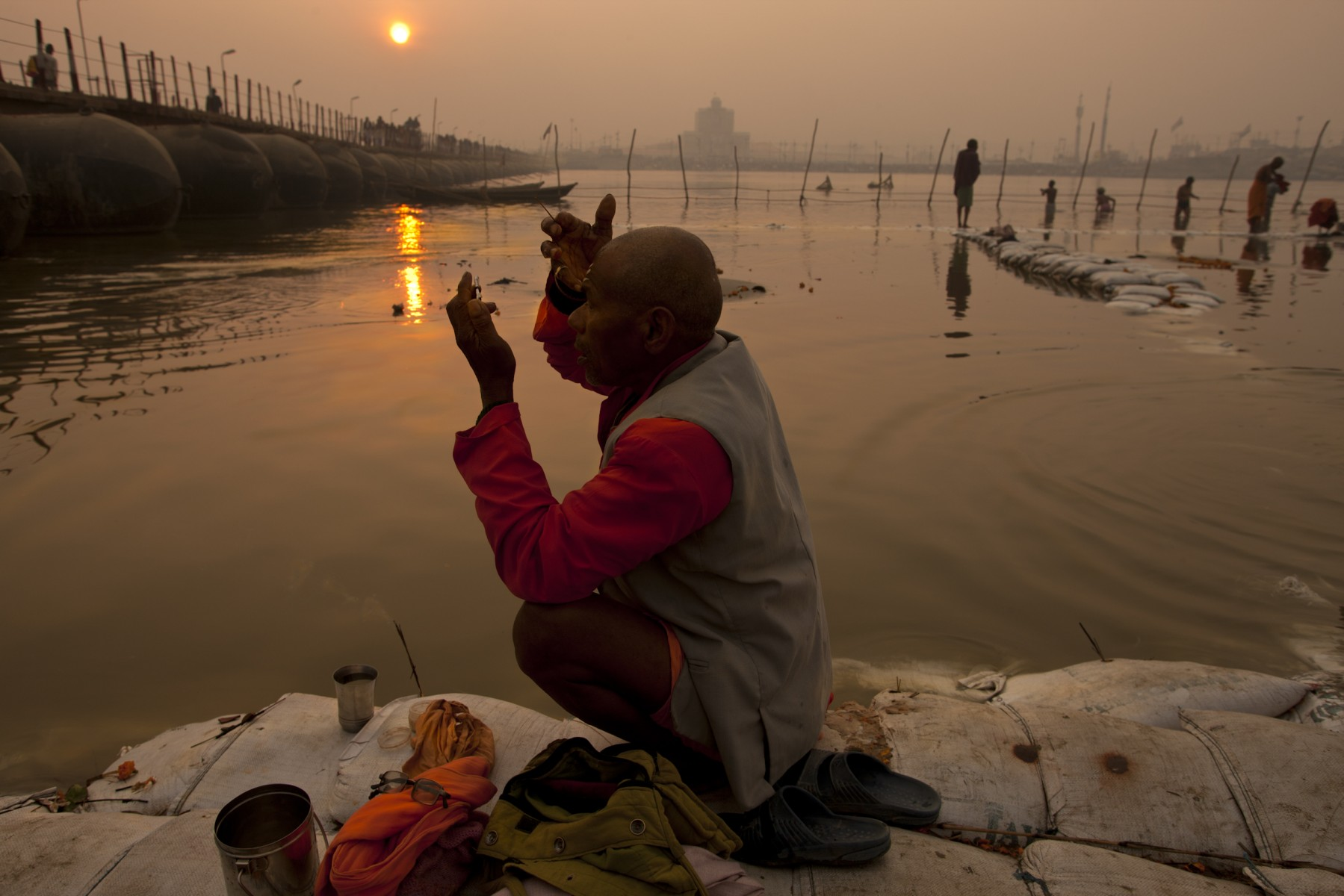 Sunrise at the Kumbh