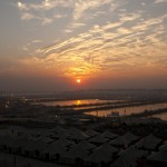 Sunset over the Sangam