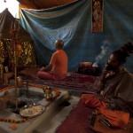 Vasu Dev Giri meditates