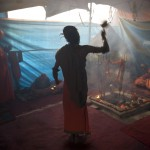 Early morning Aarti Kumbh Mela