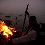 Burning pyres Varanasi