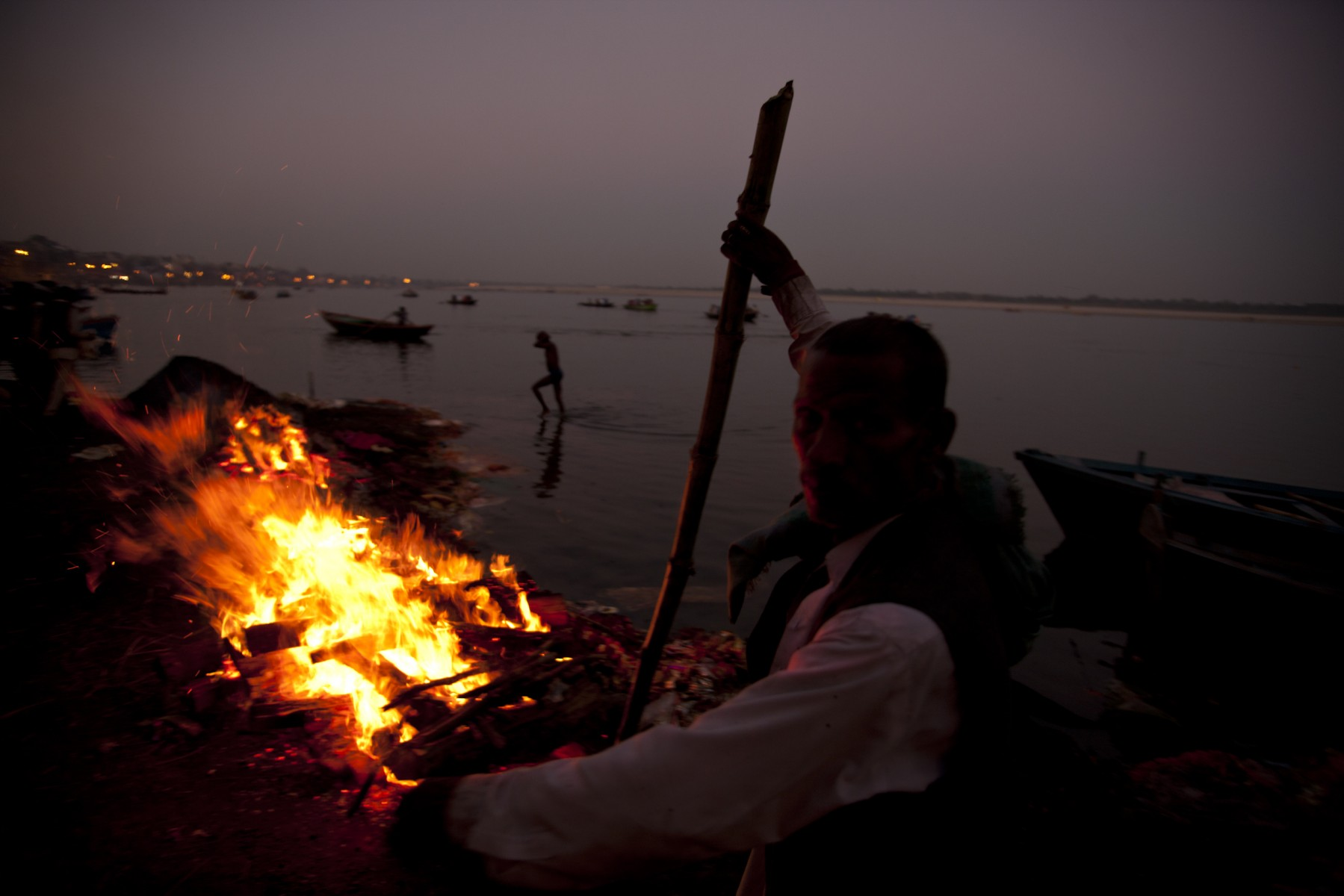 Burning pyres Varanasi