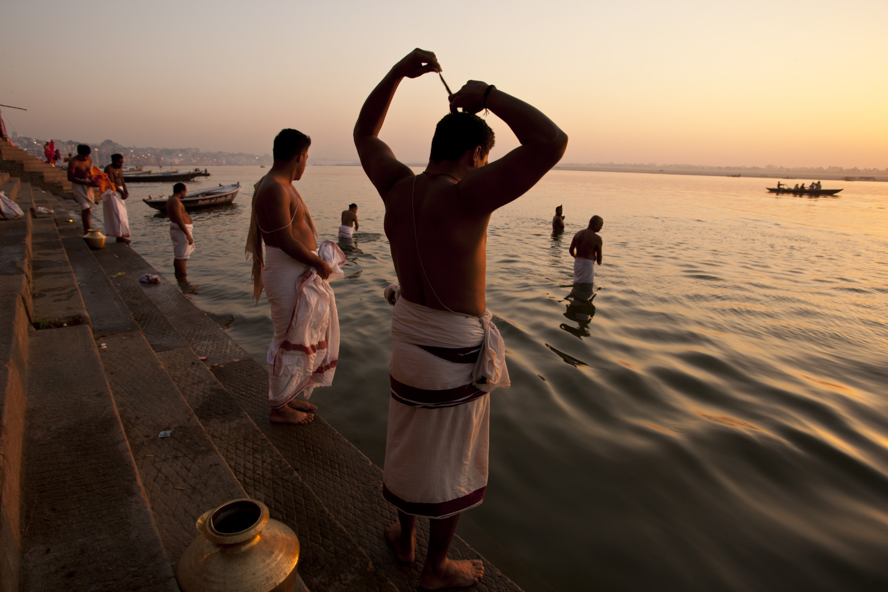 South Indian pilgrims Varanasi
