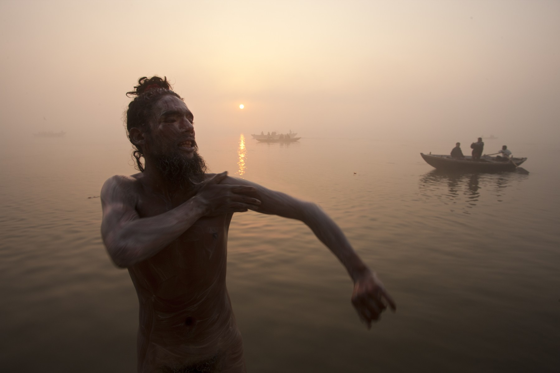 Sunrise over the Ganges at Varanasi