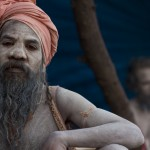Naga sadhus arrive in Varanasi from the Kumbh Mela