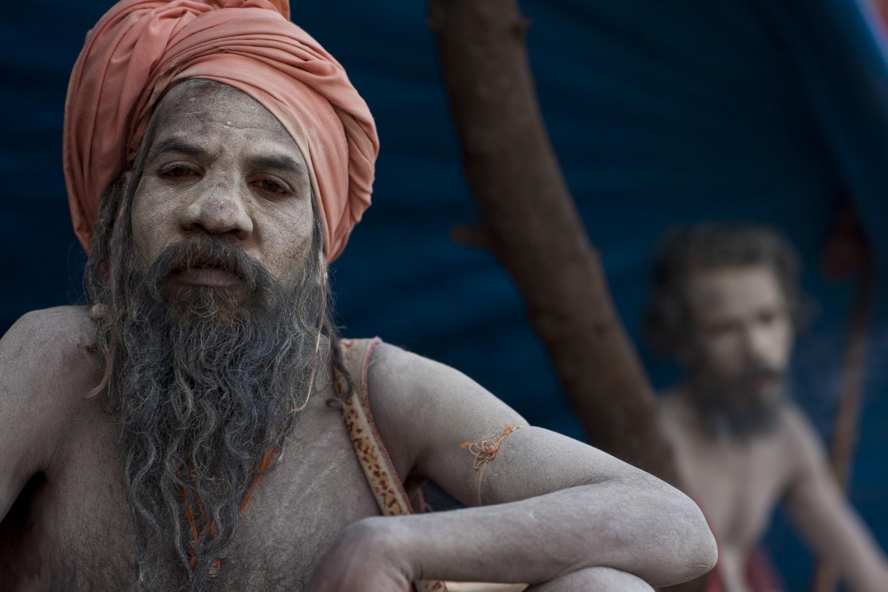 Naga sadhus arrive in Varanasi from the Kumbh Mela
