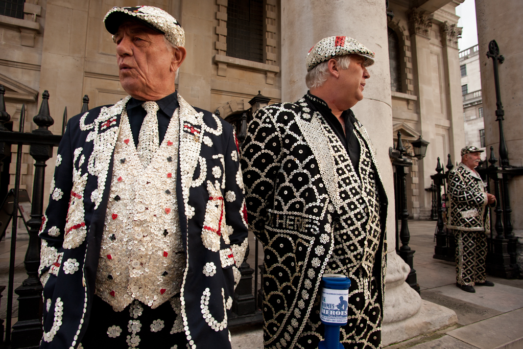 Pearly king's at St. Martin in the Fields church