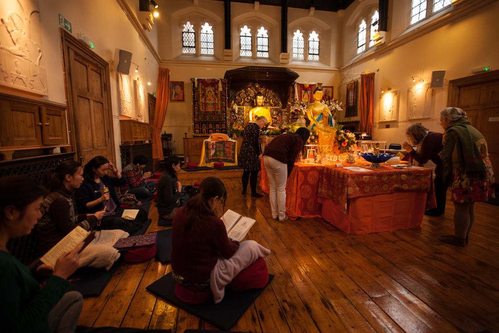 The Maitreya Loving Kindness Buddha relics on display at the Jamyang Buddhist Centre